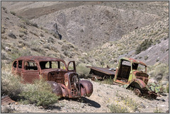 Abandoned Vehicles (Runemaker) Tags: hdr abandoned rusty car truck vehicle desert wilderness deathvalley emigrantcanyon nationalpark california