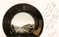 St. Clair Tunnel, Sarnia, Ontario (SwellMap) Tags: postcard vintage retro pc 30s 40s 50s 60s thirties forties sixties fifties roadside midcentury atomicage nostalgia americana advertising coldwar artdeco linen design style architecture building