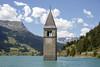 Church tower under water (hoekmannen) Tags: hoekmannen church tower kyrktorn översvämning flood lagodiresia reschensee südtirol altgraun thealps alperna