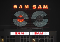 Sam the Record Man (Marcanadian) Tags: toronto ontario canada downtown architecture building winter 2017 christmas sam record man sign yonge dundas victoria restoration store ryerson university