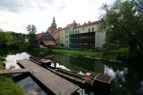 Przystań gondoli przy Hotelu Krasicki w Lidzbarku Warmińskim