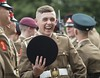 JUNIOR SOLDIERS STRIDE TOWARDS NEW CAREERS (Defence Images) Tags: harrogate junior soldiers awards award winners young passout armyfoundationcollege smile army personnel identifiable male passingout defence defense uk british military gbr