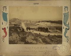 Θέα από το Παναθηναϊκό Στάδιο προς το Ζάππειο και την Ακρόπολη (Giannis Giannakitsas) Tags: αθηνα athens athenes athen 19οσ αιωνασ 19th century greece grece griechenland ζαππειο 1890
