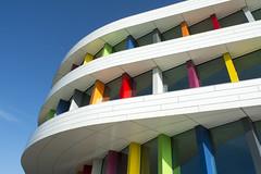 Biblion III (on Explore) (Jan van der Wolf) Tags: map14042v biblion zoetermeer architecture architectuur herhaling repetition colors kleuren windows ramen gevel facade