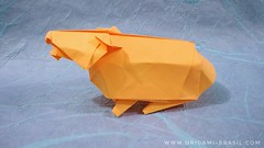 5/365 Guinea Pig by Chad Killeen (origami_artist_diego) Tags: origamichallenge 365days 365origamichallenge origami guineapig