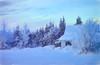 Cottage in the woods (JLS Photography - Alaska) Tags: alaska alaskalandscape art beautifulscenery cold digitalmanipulation digitalart forest home house cottage jlsphotographyalaska wilderness winter winterlandscape frosty frozen snow january landscape landscapes outside painterly painting sky serene tree building