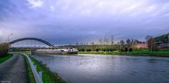 Along the river (ΨᗩSᗰIᘉᗴ HᗴᘉS +21 000 000 thx) Tags: sambre river water sky castle boat belgium belgique dramatic hdr péniche bel be bélgica eu aaa hensyasmine yasminehens fuji fujifilmgfx50s 7dwf