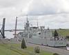 HMCS TORONTO Exits Iroquois Lock (Roger Litwiller -Author/Artist) Tags: hmcstoronto cpf canadianpatrolfrigate stlawrenceriver stlawrenceseaway rogerlitwillercollection mvsichemdefiance iroquoislock rcn royalcanadiannavy