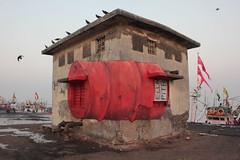 BOMBAY SASSOON DOCK 11.2017 (Ella & Pitr) Tags: ellapitr anamorphosis art landart oeuvre india street mumbai bombay sassoon dock inde mural wall ella pitr