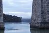6275 Pont Britannia through Pont Grog y Borth (Andy - Tak'n a breever) Tags: bbb bluehour bridge menaibridge menaistraits menaisuspensionbridge mmm pontbritannia pontgrogyborth ppp seawater sss water www