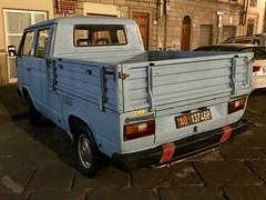 "Volkswagen T3 1,6 diesel ""pick-up"" (leocas82) Tags: aosta car auto automobile leocas82 carspotter germania pickup diesel ao137468 targhenere transporter type2 iphone"