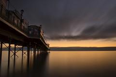 Cloudy Sunrise at Paignton Pier (simondayuk) Tags: paignton brixham devon seascape coast sunrise dawn sea pier clouds nikon d5300 kitlens cloudsstormssunsetssunrises