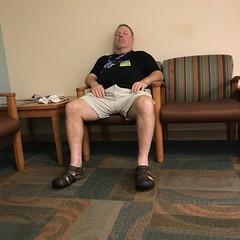 Man in sandals (LarryJay99 ) Tags: men male man guy guys dude dudes legs hairylegs belly bulge shorts people package face hunk