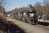 Out a Mile (ajketh) Tags: ns norfolk southern emd sd60 sd70 sd70m2 freight train railroad m23 extra barber cleveland asheville linwood nc north carolina sline district main 6670 2546