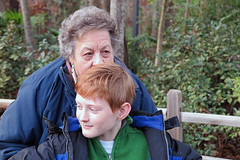 Grandmother and Grandson (FAIRFIELDFAMILY) Tags: taylor jason grant carson keith mary lou memaw zoo christmas 2017 bronze ape grandmother grocery store kroger isle cereal coca cola ornament columbia sc south carolina winsboro fairfield county grandson lowes shopping jeremy father son lights michelle family
