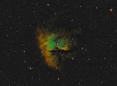 Pacman Nebula in Hubble Palette (UKJay1971) Tags: astrophotography astronomy narrowband pacman astroimaging imagingspace astrometrydotnet:id=nova2384107 astrometrydotnet:status=solved