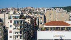 Turmbeichtigung - Blick zur Burg (PWeigand) Tags: chalkidiki thessaloniki θεσσαλονίκη decentralizedadministrationof griechenland decentralizedadministrationofmacedoniaandthrace