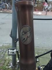 taz. Das Rad. (mkorsakov) Tags: münster city innenstadt fahrrad bike bicycle taz tazrad panther logo emblem