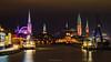 The Towers (Matt Rimkus Photography) Tags: schleswigholstein nightshot river reflections water port balticsea cityscape nightlights longexposure lübeck clouds deutschland de