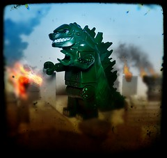 The Folly of Man (LegoKlyph) Tags: lego custom monster godzilla kaiju king creature lizard movie classic toho brick block mini figure boc