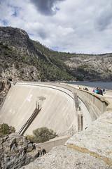 Hetch-Hetchy dam (Sara_Loowgren) Tags: usa outdoors color canon 5d californa ca september fall dam hydropower construction reservoir