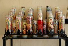 Holy Candles Santa Fe New Mexico (Ilhuicamina) Tags: newmexico santafe candles velas guadalupe churches southwest