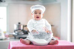 Baby cooking (I love landscape) Tags: baby cook kitchen cooking toddler little babies child cute happy chef adorable caucasian hat small childhood funny food white boy beautiful kid dinner concept people asia chinese thai asian fun fat portrait young healthy joy diet lunch infant ladle studio smile health cheerful cake sweet sit powder bow bakery home family