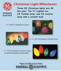 GE Christmas Lighting Milestones (JeffCarter629) Tags: generalelectricchristmas gechristmaslights gechristmas ge generalelectric generalelectricchristmaslights christmas christmaslights c9 c9christmaslights gec9 gec9cc lightedice