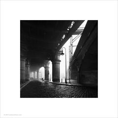 Castlefield, Manchester (Ian Bramham) Tags: castlefield manchester fog victorian railway arches person