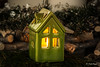 A little house (Magda Banach) Tags: 80d canon litbycandlelight macro candle light christmas green ambience atmosphere dream