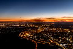 Sunset over Madrid (gc232) Tags: madrid aerial altitude sunset sun sunrise golden light hour pilots view airplane plane aircraft fly above livefromtheflightdeck golfcharlie232 canon 6d sigma 35mm f14 art lens dusk dawn twilight
