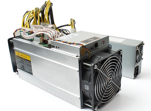 Một máy đào Bitcoin có nguồn gốc Trung Quốc.