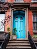 the light blue door (Web-Betty) Tags: nyc newyork newyorkcity manhattan city urban bigapple door building