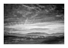 Sunset in B&W (SopheNic (DavidSenaPhoto)) Tags: sunset multipleexposure whitemountains mountains newhampshire xe1 abstract fuji clouds black white bnw bw