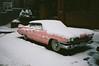 Happy Xmas everyone! (deepstoat) Tags: contaxt3 film 35mm kodakportra snow crowdfunding zeiss london cadillac pink walkinginawinterwonderlandthatrapidlyturnsintoslush londonist