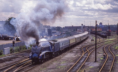 4498 St Marys Goods Yard Derby. 29/08/1988 (briandean2) Tags: 4498 a4 derbyshire stmarysgoodsyard steam railways ukrailways uksteam