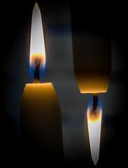 "Double exposure (Jack Blackstone) Tags: illusion ""incameradoubleexposure"" em1mkii macro candles flames macromondays doubleexposure"