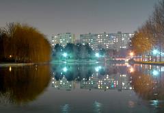 Night reflections (Dumby) Tags: noapte bucharest românia sector3 ior titan lake park reflections bucurești lx3 panasonic