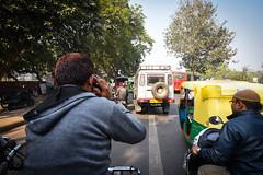 On the road (Dotzap) Tags: road rue new delhi inde india tuk tuktuk guy gars vélo ride