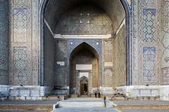 Bibi-Khanym Mosque. (Stefano Perego Photography) Tags: stepegphotography stefano perego bibi kanym mosque amir timur tamerlane samarkand uzbekistan samarcanda tamerlano moschea architecture entrance