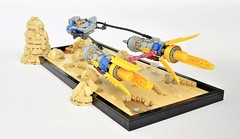 Anakin's Podracer (Inthert) Tags: anakin skywalker podracer lego moc star wars phantom manace ship land tatooine race boonta eve classic vignette