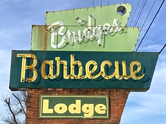 Bridges Barbecue Neon Sign (esywlkr) Tags: bbq barbecue restaurant sign neon wnc nc shelbynorthcarolina us74 iatehere