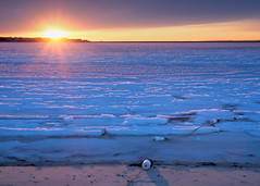 Cold Sunset (Steve Bosselman) Tags: sunset seascape ice winter cold capecod