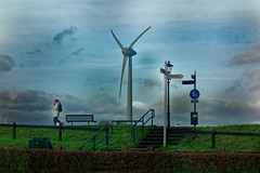 Going For A Sunday's Walk On A Monday (Alfred Grupstra) Tags: turbine environment technology windturbine nature sky fuelandpowergeneration wind outdoors environmentalconservation electricity energy cloudsky generator blue alternativeenergy equipment windpower industry landscape
