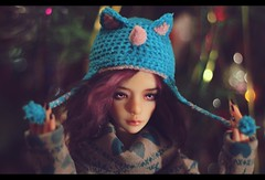 Well, anybody who wears a hat as stupid as this isn't in the habit of hanging around other рeople, is she? (noir_saint_lilith) Tags: dollphotography doll bjd zaoll zaollluv dollmore dollportrait happynewyear hat