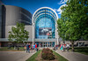 National Museum of the US Air Force (donnieking1811) Tags: ohio dayton airforce museum nationalmuseumoftheusairforce architecture building exterior outdoors trees sidewalk sky clouds blue glass windows canon 60d lightroom