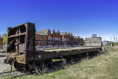 remnants of Railroad Activity at Potter Street Station (TAC.Photography) Tags: depot train rr abandoned rrcar railroad railroadcar ruins rust tomclarkphotographycom tacphotography tomclark d3000