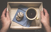 Coffee Break (Mandy Willard) Tags: 365 0401 tray gingerbread coffee mug hands