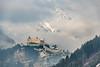 Hohenwerfen Castle - Werfen, Austria (Henk Verheyen) Tags: a austria burcht oostenrijk werfen wintersport buiten castle kasteel landscape landschap outdoor burghohenwerfen hohenwerfen snow winter mist fog clouds wolken zon sun