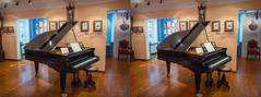 Piano at small Tchaikovsky museum in Moscow (urix5) Tags: 3d stereo stereoscopic stereopair stereoscopy crossview crosseyed moscow russia tchaikovsky museum piano